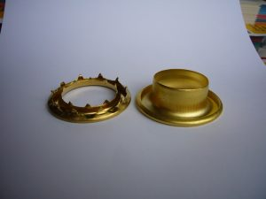 Grommet and washer